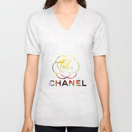 Fashion Flower Unisex V-Neck