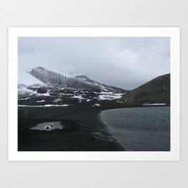 Antarctic hot springs Art Print