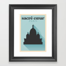 Paris City Flat Design Poster Framed Art Print