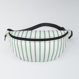 Moss Green Green Pin Stripe on White Fanny Pack