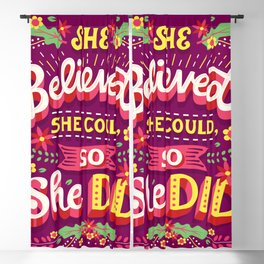 She believed she could Blackout Curtain
