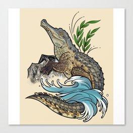 Orinoco Crocodile Canvas Print