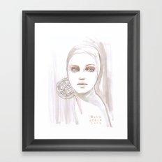 Fade fashion illustration portrait Framed Art Print