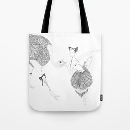 The Dancer and the Ostrich Tote Bag