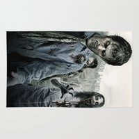 walking dead Area & Throw Rugs featuring Zombie by Joe Roberts