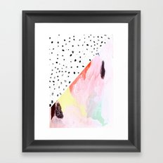 Polka Dots & Paint Framed Art Print