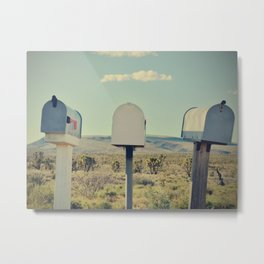 Old Mailboxes - Fine Art Travel Photography Metal Print