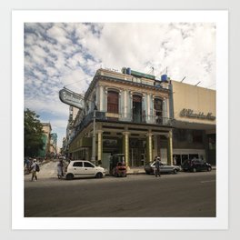 Nice lookin' street corner in La Havana, Cuba Art Print