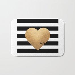 GOLD HEART PRINT, Heart Print,Heart Sign,Heart Decor,Gold Print,Gold Foil,Love Word,Love Quote,Love Bath Mat