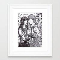 arya Framed Art Prints featuring Arya and Eragon by Furiarossa