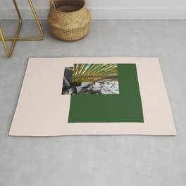 Gray and Green Rug