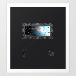 day & night Art Print