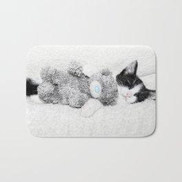 Kitten and teddy Bath Mat