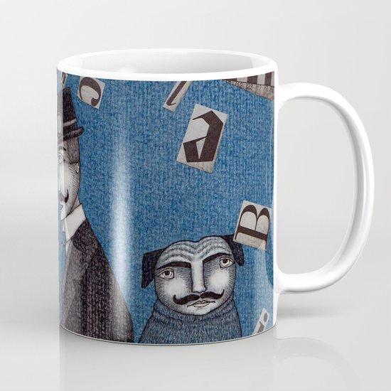 Two Men Travelling Mug