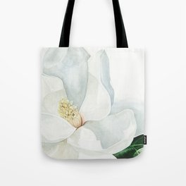 Watercolor Magnolia Blossom Tote Bag