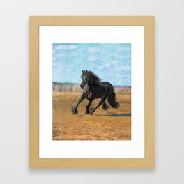 Drawing horse Framed Art Print