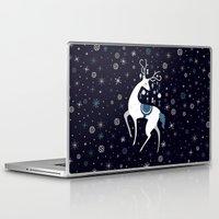 reindeer Laptop & iPad Skins featuring reindeer by Anita Molnár Anita
