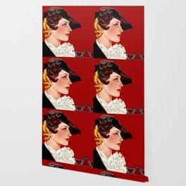 Art Deco Red Wallpaper