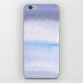Lilac grey watercolor fantasy iPhone Skin