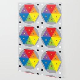 Color wheel by Dennis Weber / Shreddy Studio with special clock version Wallpaper