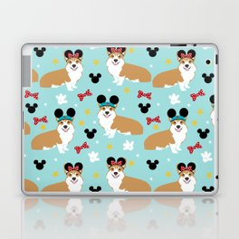 Corgi theme park lover dog breed pattern gifts Laptop & iPad Skin