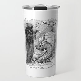 A Christmas Carol Charles Dickens Scrooge and Death Travel Mug
