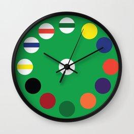 Pool Table Wall Clock [Green] Wall Clock