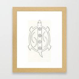Hopi Design Turtle Framed Art Print