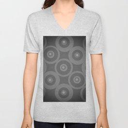 Black and White Circles Unisex V-Neck