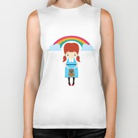 oz Biker Tanks featuring Dorothy Wizard of Oz by Steph Dillon