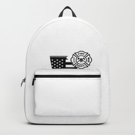 Georgia Firefighter Shield Thin Red Line Flag Backpack