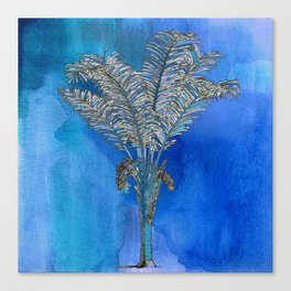 Blue Palm Canvas Print