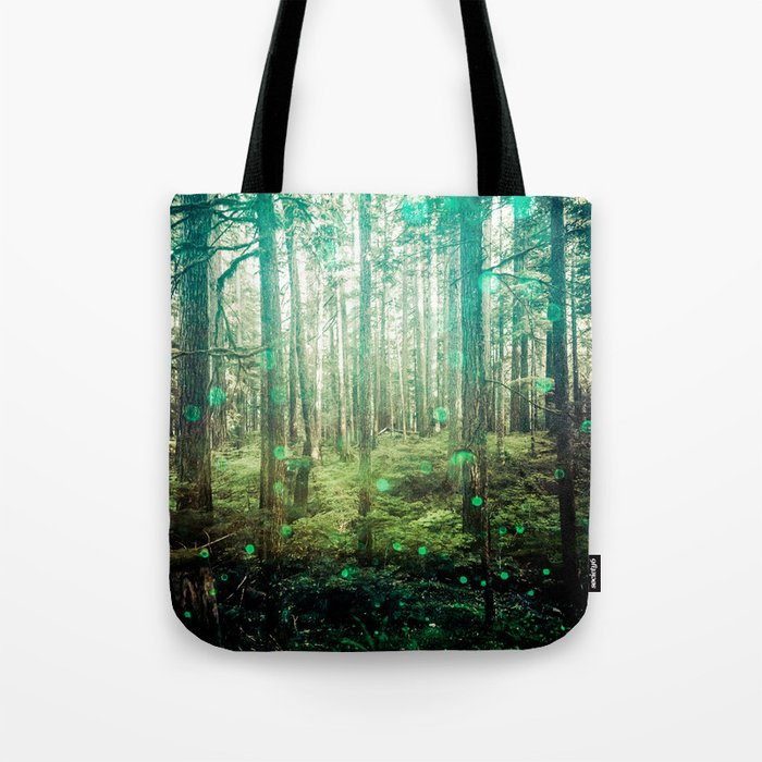 Magical Green Forest Tote Bag