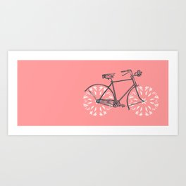 Snowflake Bicycle Art Print