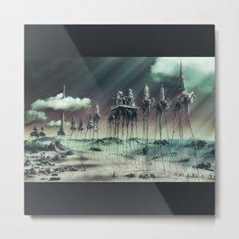 -Caravan Dali- GREEN Metal Print