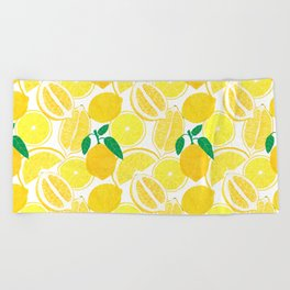 Lemon Harvest Beach Towel
