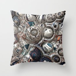 Three Dimensional Reflections Throw Pillow