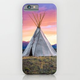 Southwest Sunset with Teepee iPhone Case