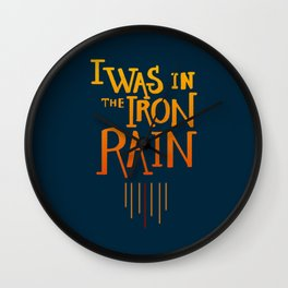 Iron rain Wall Clock