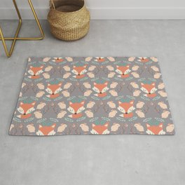 Foxes and rabbits Rug