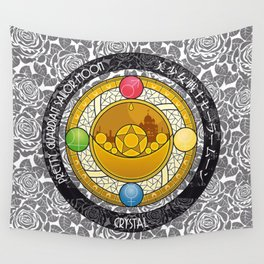 Sailor Moon - Crystal Transformation Brooch Wall Tapestry