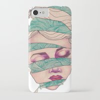 knit iPhone & iPod Cases featuring Knit Head by AW Illustrations