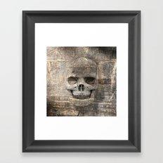 Wood Skull 02 Framed Art Print