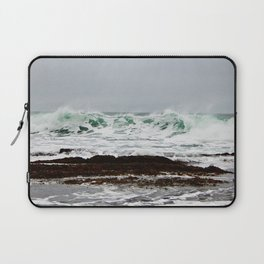 Green Wave Breaking Laptop Sleeve