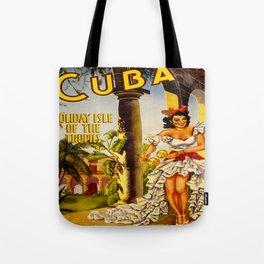 Cuba Holiday Isle of the Tropics Tote Bag