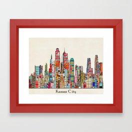 kansas city Missouri skyline Framed Art Print