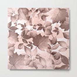 Watercolor Autumn Leaves 8 Metal Print