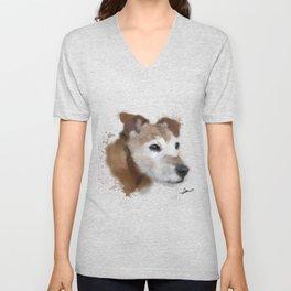 Jack Russell Terrier Dog Unisex V-Neck