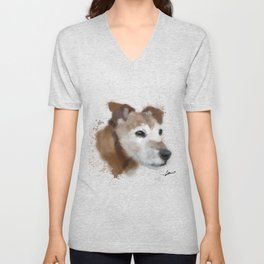 Jack Russell Terrier Dog Unisex V-Neck