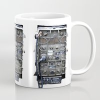 military Mugs featuring Vintage Military Radio  by TomConwayArt